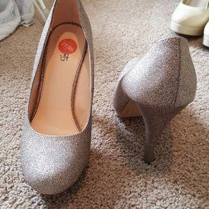Women's glitter heels